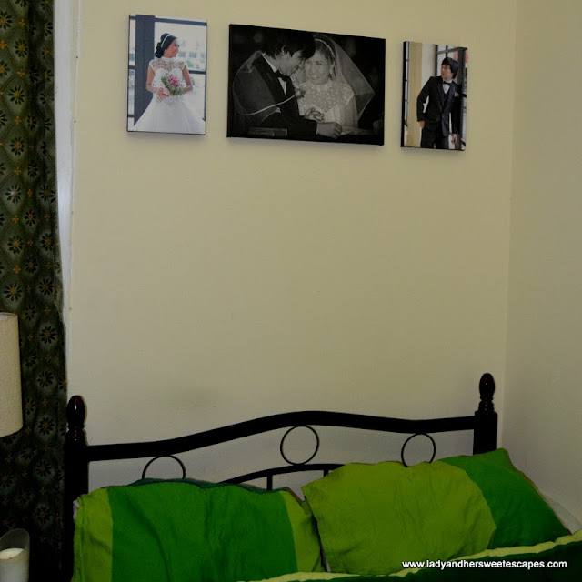 Customyze.co's canvas prints on our bedroom wall