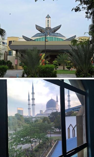 Kompleks Seni Islam Antarabangsa Selangor sebelah masjid