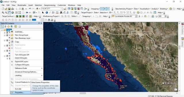 Como recortar un mapa base en ArcMap