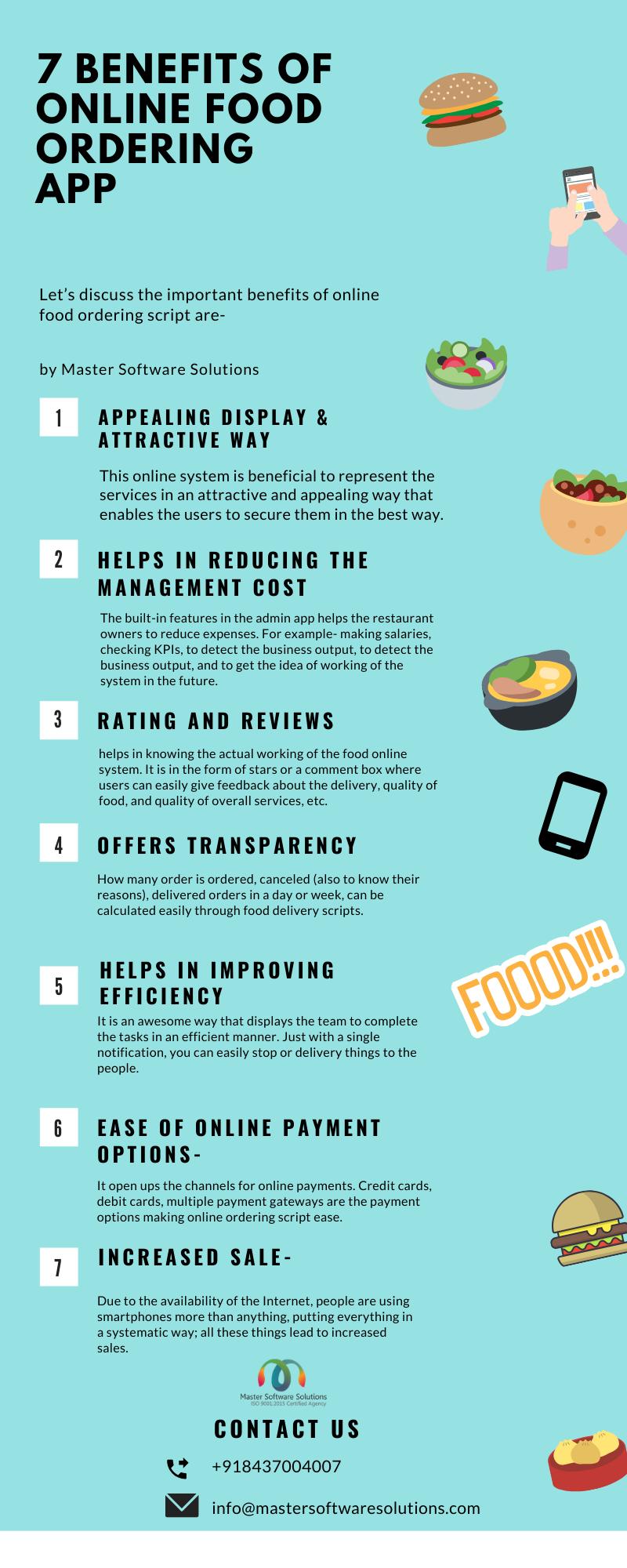 7 Benefits Of Online Food Ordering App #infographic