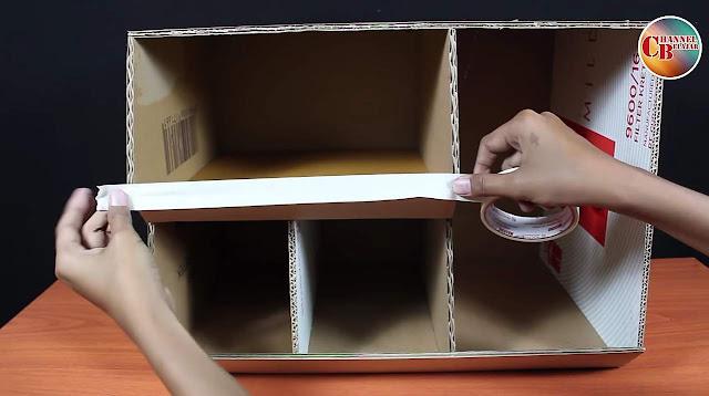 Cara Membuat Rak Buku Dari Kardus Bekas - Cara Membuat Rak Buku Dari Kardus Simple Yang Mudah Dibuat