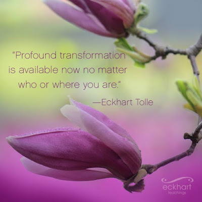 Profound Transformation Is Available Now - A Quotation from Eckhart Tolle