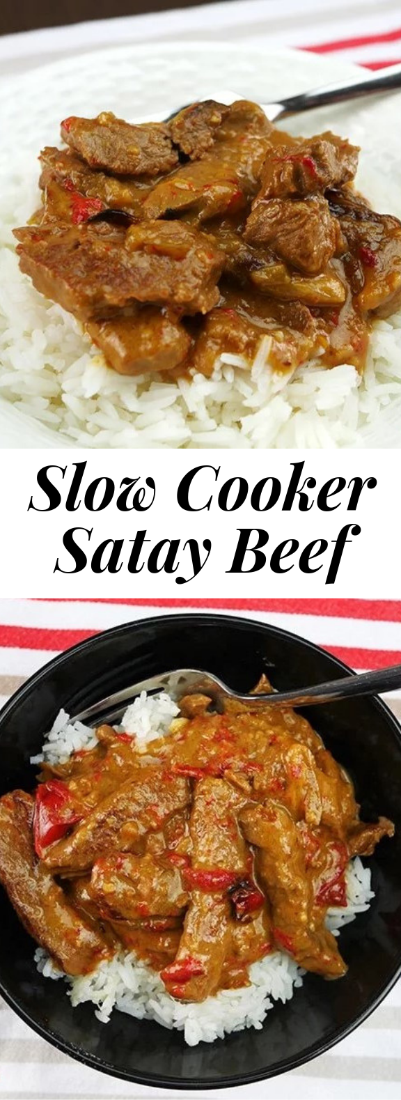 Mouthwatering Good Slow Cooker Satay Beef #healthy #crockpot