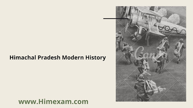 Himachal Pradesh Modern History-HP GK