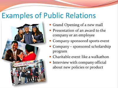 Examples of public relations used as a promotional method