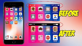 Cara Mengganti Status Bar Android Menjadi Seperti Iphone