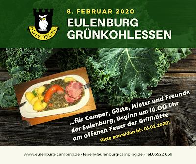 Einladung zum Eulenburg Grünkohlessen