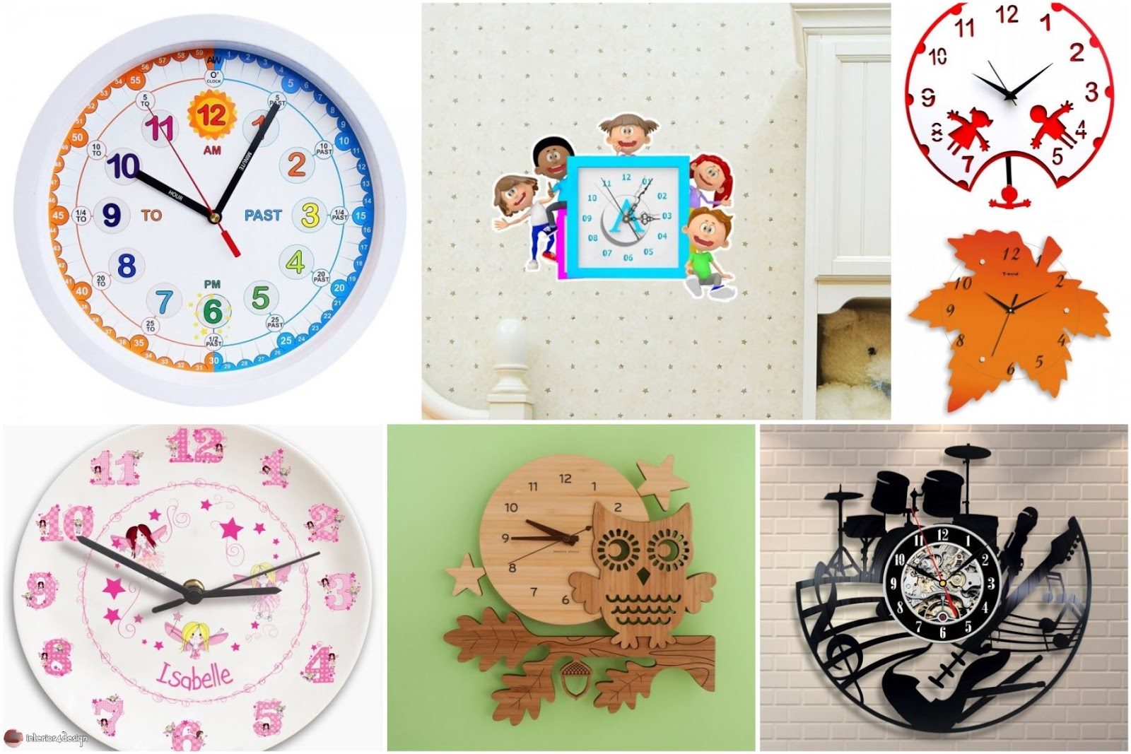 9 Cool Wall Clocks For Decorating Kids Rooms