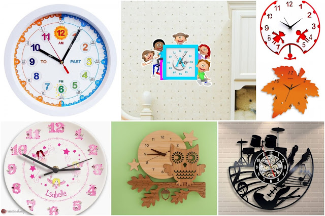 20 Cool Wall Clocks For Decorating Kids Rooms