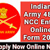 Indian Army 48th NCC Entry Online Form 2020