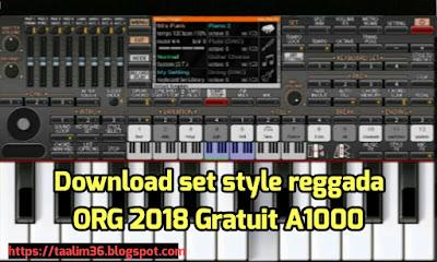 Download set style reggada org2018 gratuit A1000