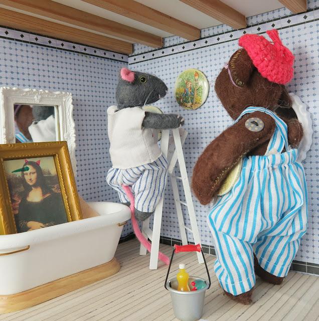 mona lisa - joconde - bathroom - salle de bain