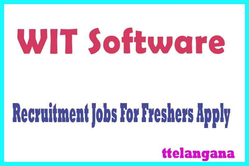 WIT Software Recruitment Jobs For Freshers Apply
