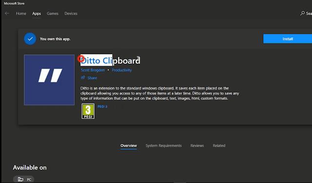 برنامج Ditto Clipboard