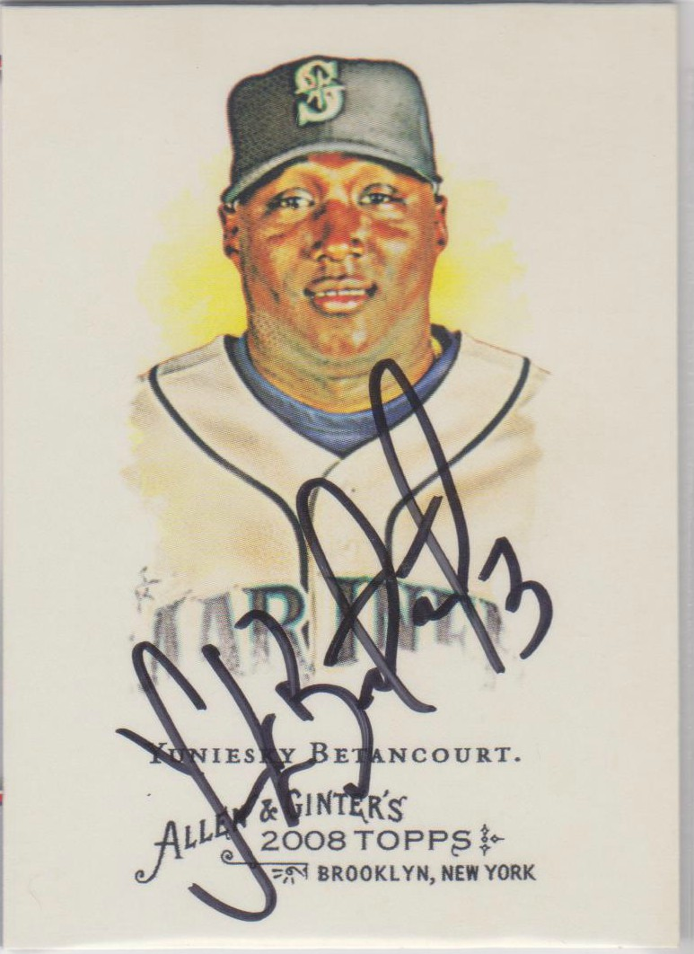 Yuniesky Betancourt Autographed Card Wide Selection; Sports Mem, Cards & Fan Shop