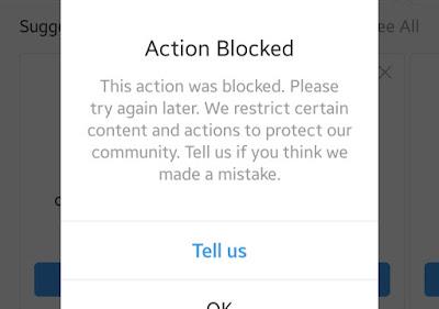 Akun Instagram Tidak Bisa Like Foto/Video