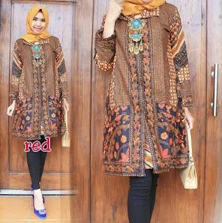 Model Gaun Batik Elegan
