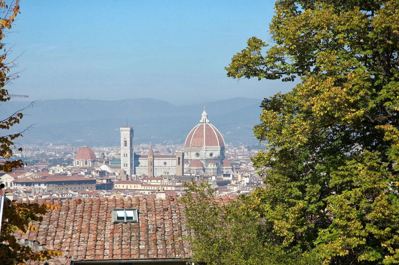 widok na miasto Florencję punkt widokowy