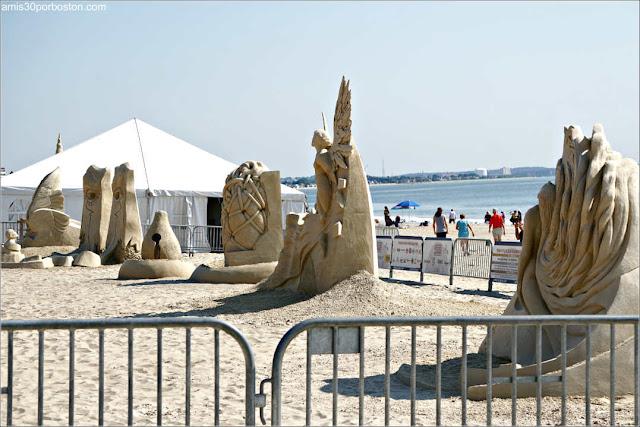 Esculturas del Festival Internacional de Esculturas de Arena de Revere Beach 2019