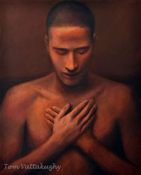 The Seeker of Light - 2-Oil on Canvas-67x61 cm-HuesnShades