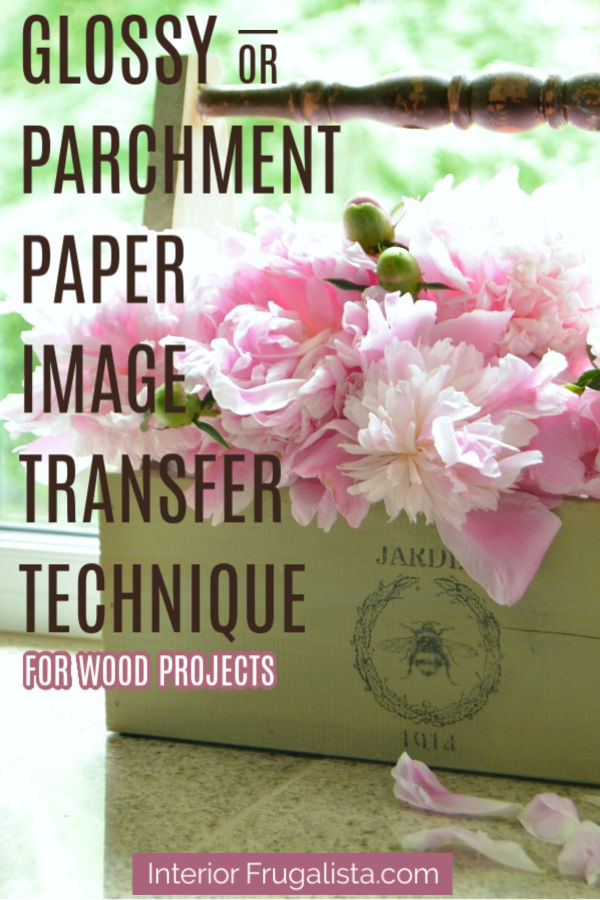 Glossy or Parchment Paper Image Transfer Technique
