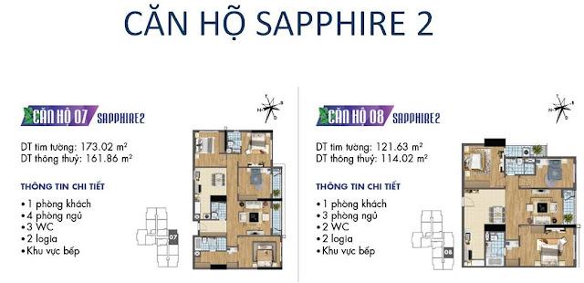 Căn hộ số 07, 08 tòa Sapphire 2- Goldmark City
