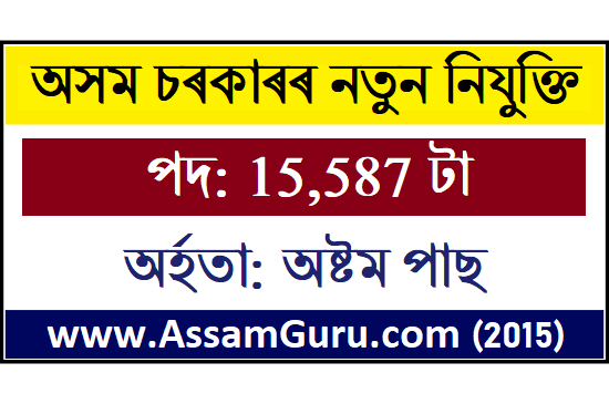 Assam Govt Recruitment 2020