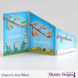 Stamp/Die Duos: Bee-lieve Custom Dies: Z Fold with Layers, Bitty Blossoms, Love Script, Letter Board, Grass Lawn, Christmas Dove (snowflakes) Paper Collection: Christmas Collection 2019