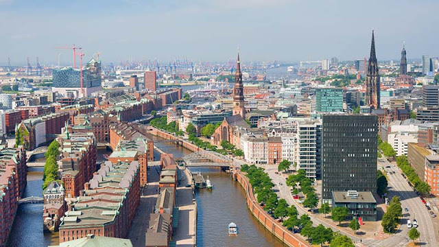 Vista da cidade de Hamburgo
