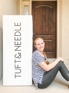 The Tuft & Needle mattress comes in a box to your doorstep