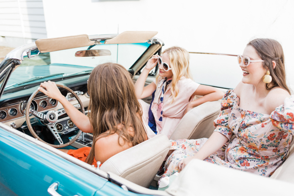 Gals in a Vintage Car | Chasing Cinderella
