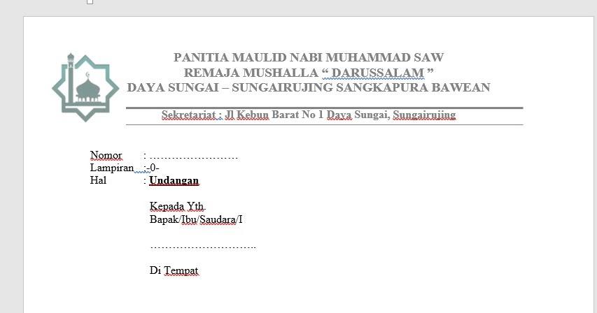 Contoh Surat Resmi Bahasa Sunda Tentang Dkm
