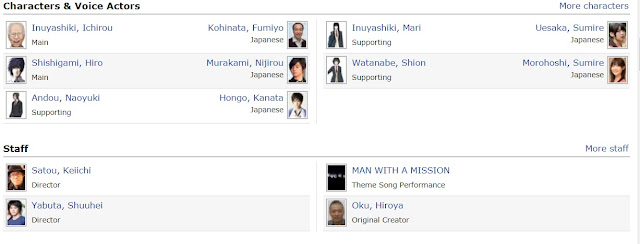 Characters and Voice Actors Inuyashiki