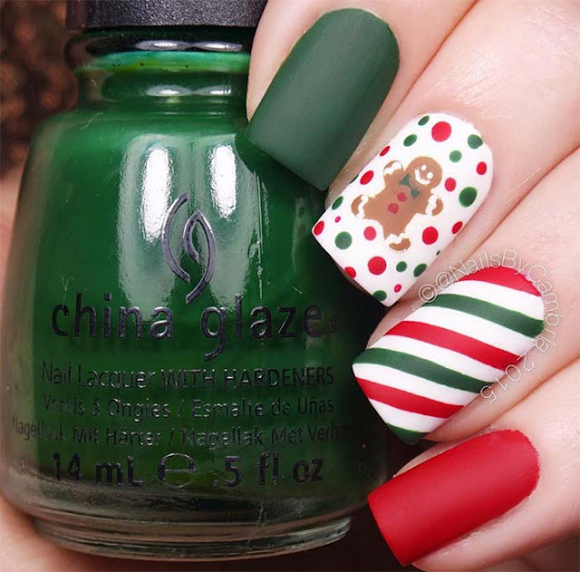Beautiful Festive Holiday Nail Art Ideas