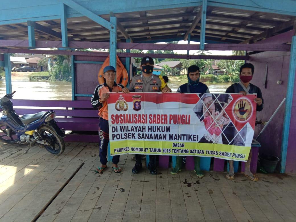 Imbau Stop Pungli, Personel Polsek Sanaman Mantikei sambangi Warga Tumbang Manggu