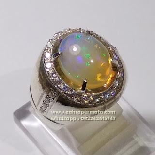 Cincin Batu Permta Opal Kalimaya ZP 1101