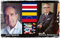 Rómulo Betancourt y José Figueres
