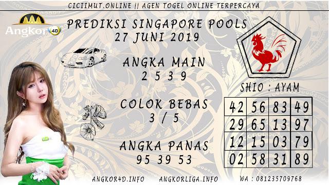 PREDIKSI SINGAPORE POOLS 27 JUNI 2019