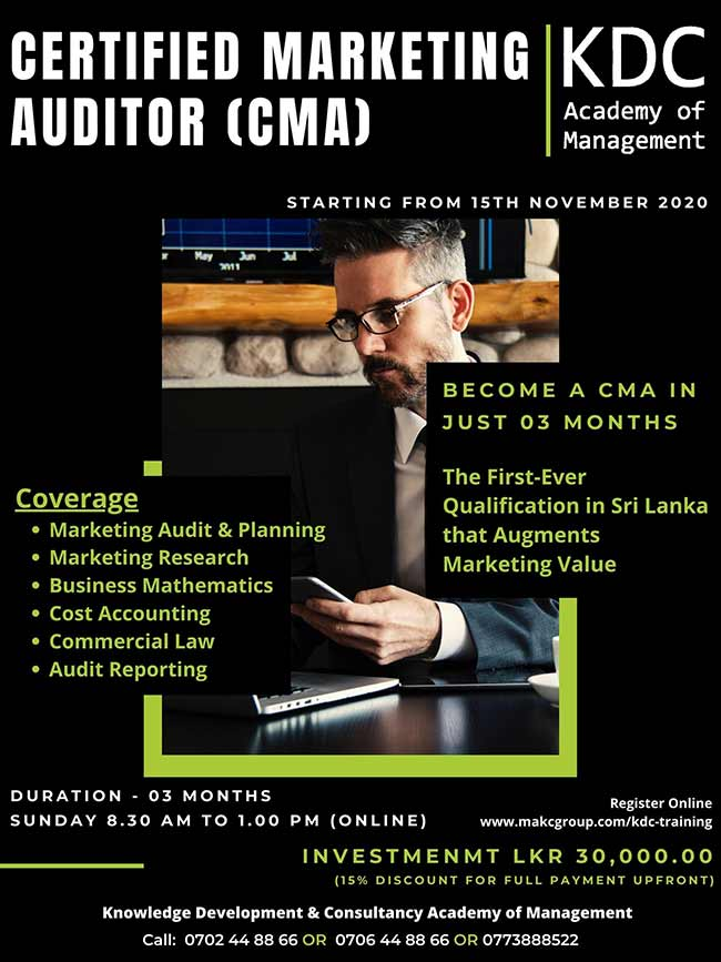 Become a Certified Marketing Auditor (CMA).