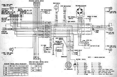 honda cl100 motorcycle 1970 1973 complete wiring diagram. Black Bedroom Furniture Sets. Home Design Ideas