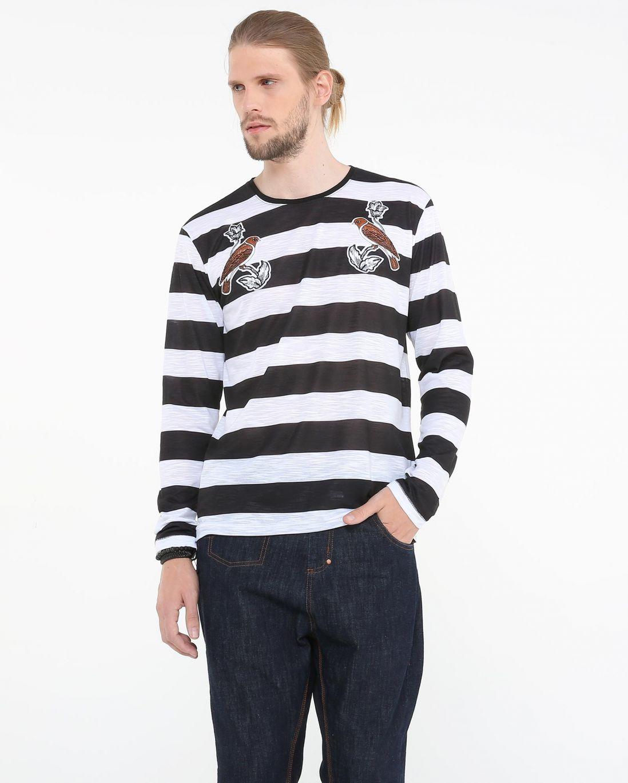 LEO KLEIN - KADU DANTAS PARA RIACHUELO - Camiseta Listras Pássaros