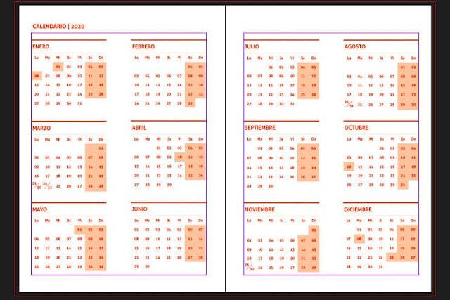 Agenda 2020 organizada diariamente y lista para imprimir