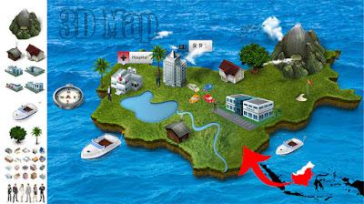 3D Map Action Photoshop