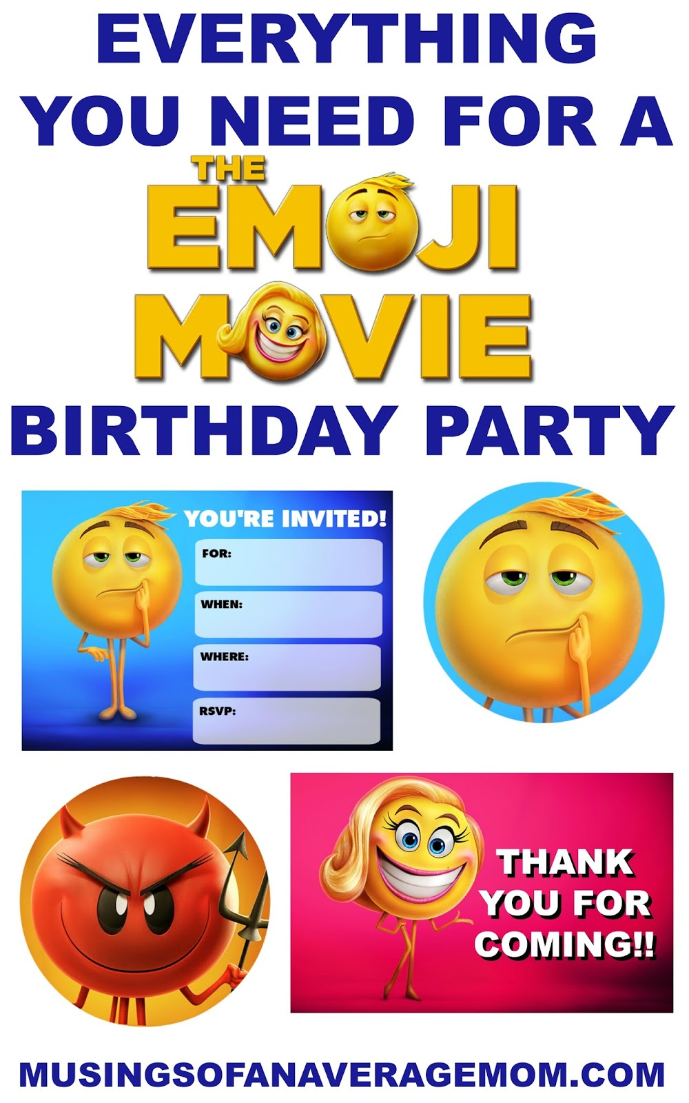 The Emoji Movie Printables Free Printable Party Invitations