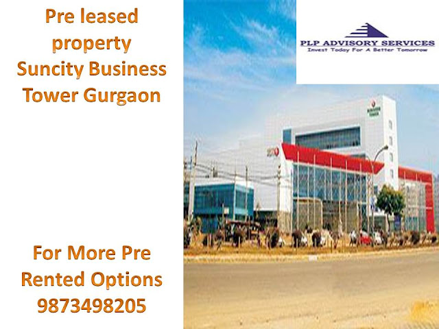 Pre Leased Property for sale in Suncity business tower Gurgaon:9873498205
