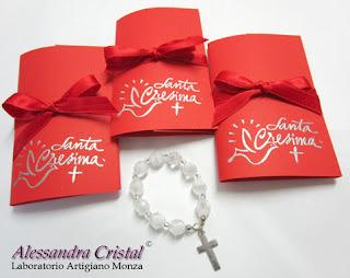 bomboniere comunione cresima rosario 10 grani