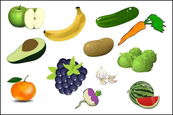 أسماء الخضروات و الفواكه بالفرنسية