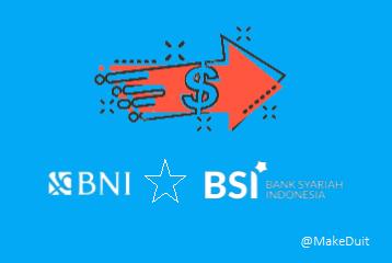 Cara, Kode dan Biaya Transfer Bank BNI Ke BSI