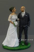 statuine per torta matrimonio romantiche sposi realistici sguardo orme magiche