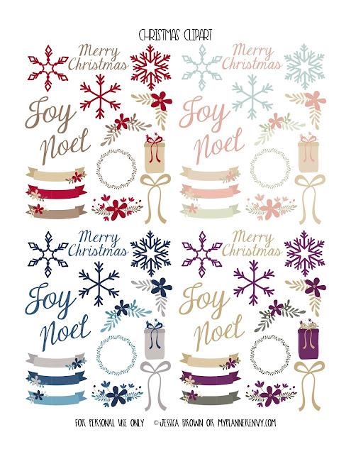 Christmas Clip Art from myplannerenvy.com